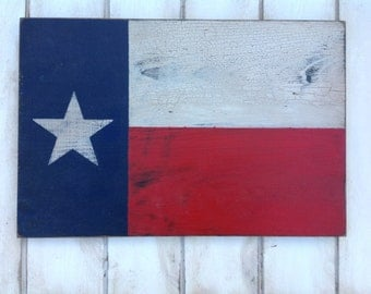 Texas flag sign made from reclaimed plywood