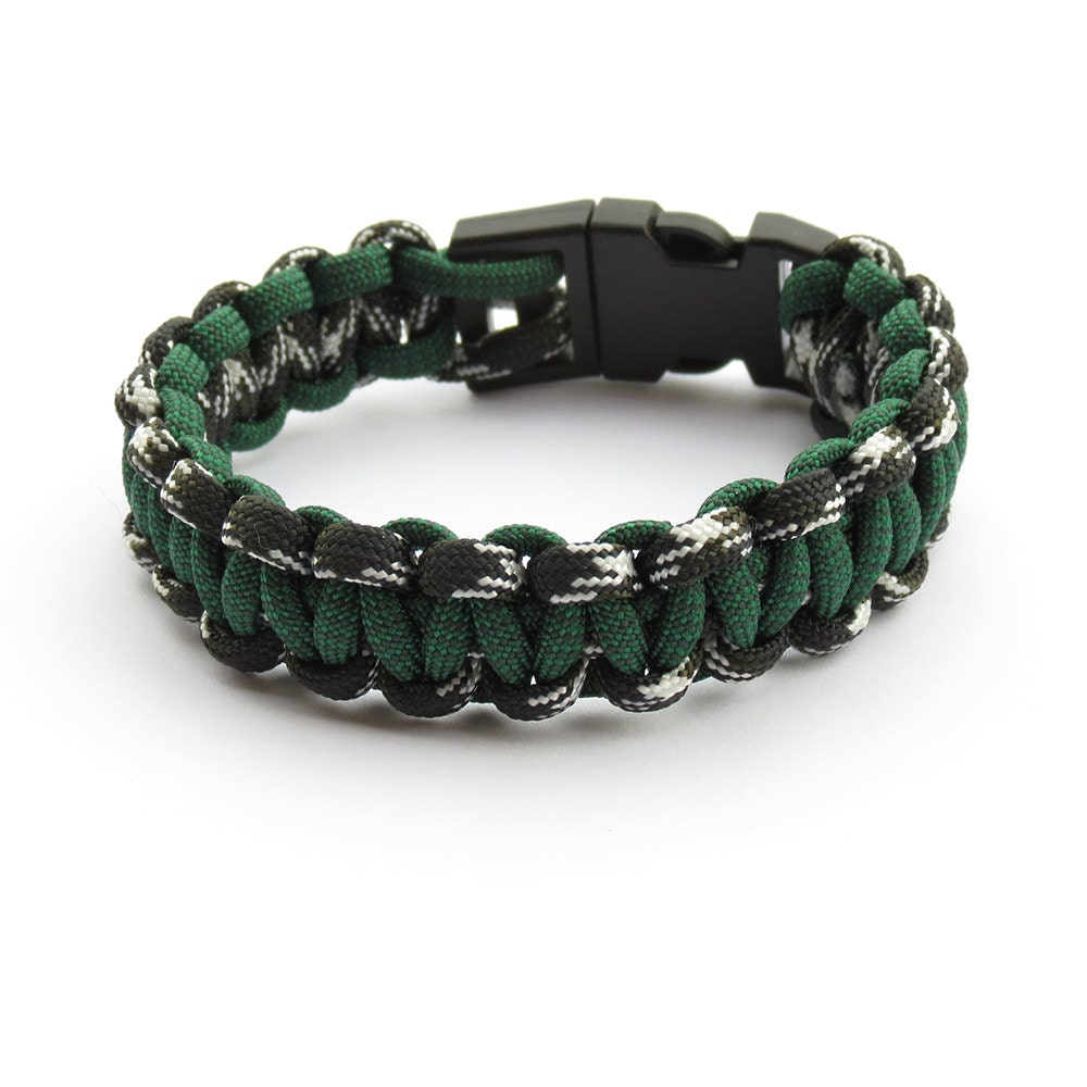 Paracord Bracelet Survival Forest Green 550 Mens Parachute