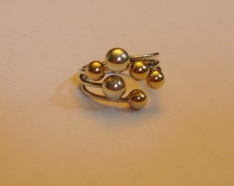 Gold Adjustable Ring Yellow and White Gold
