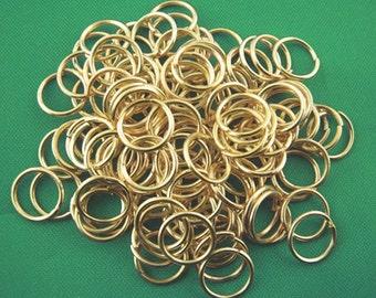 BULK 600 Jump Rings 8MM High Quality Gold Plated - J032B