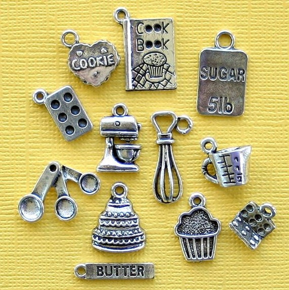 in the kitchen charm collection antique silver tone 12