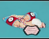 Thing 1 & Thing 2 Inspired Hat-Newborn to 10 years- Photography Prop- Newborn hats- Twins hats
