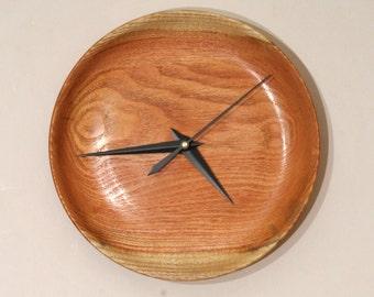 Wall Clock, Wood Wall Clock, Turned Wood, Honey Locust Clock