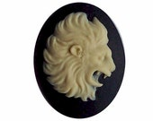 40x30mm leo Resin Zodiac Cameo Leo Cameo the Lion Cameo Black and Ivory zodiac charm astronomy astronomy lion jewelry decoden supply  560x