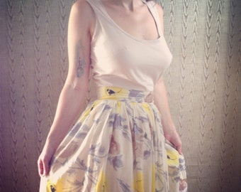 Featherweight cotton sundress with hand dyed bodice made to measure  custom floral dress