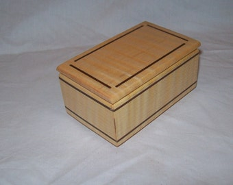Fiddle Back Maple Treasure Box or Ring Box