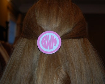 Monogram hair barrette clip~Personalized for you. Looks great over a ponytail too!