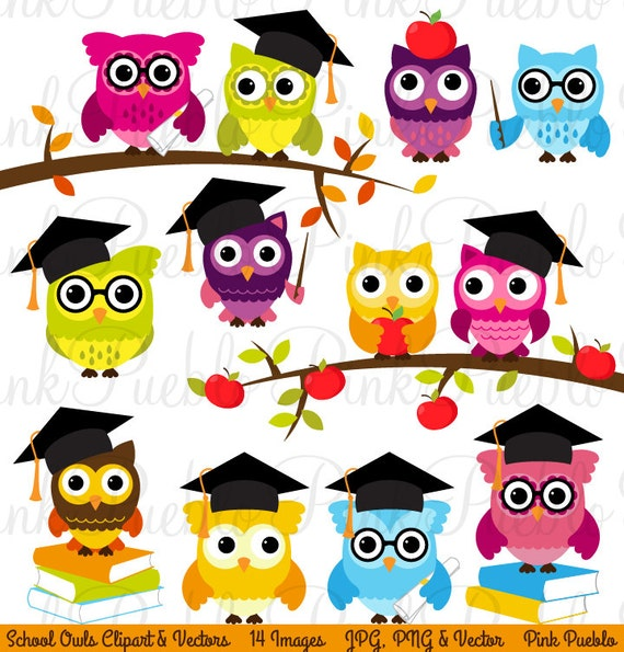 Cute Back to School Owls Clipart Clip Art Wise School Owl