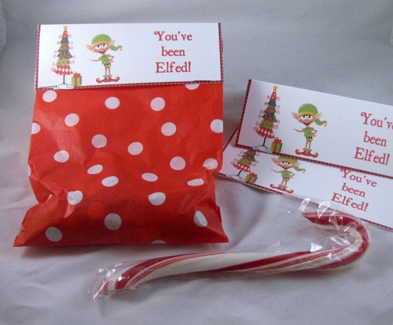 Christmas Treat bags with Elf- Set of 15