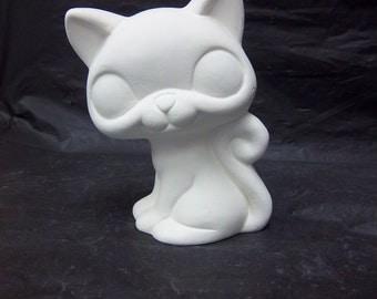 Ceramic cat u paint