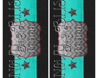 Magic Potion Drink Labels Gray/REd