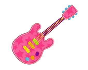 Electric Guitar APPLIQUE Machine Embroidery Designs