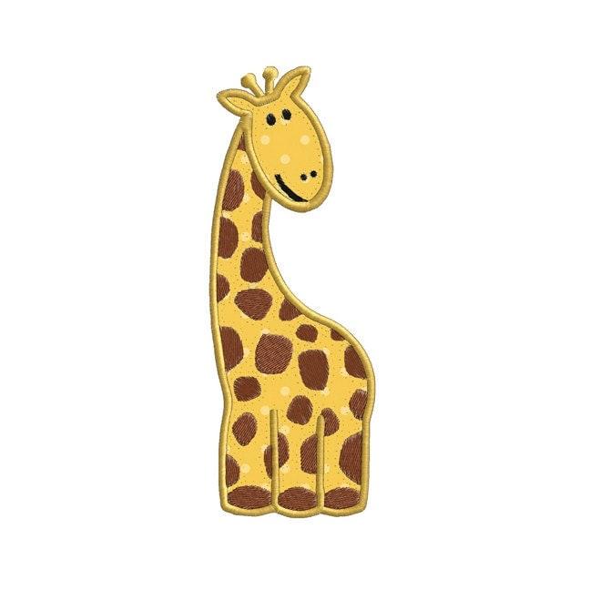 Giraffe Wild Jungle Animal APPLIQUE Machine Embroidery Designs