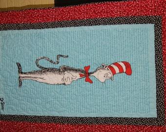 Dr. Seuss Cat in the Hat Quilt Toddler size