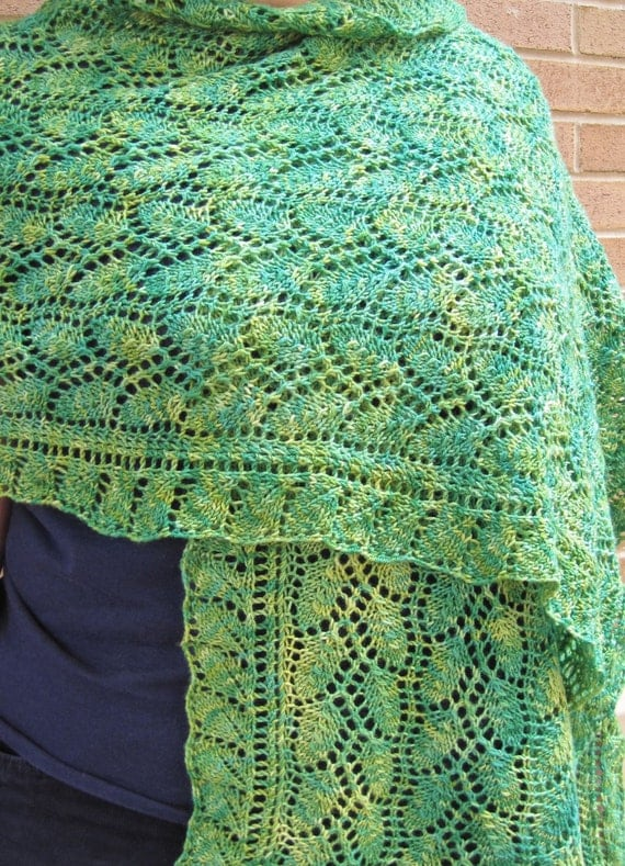 Willow Leaf Knitting Pattern : Knit Wrap Pattern: Weeping Willow Lace Shawl Knitting ...
