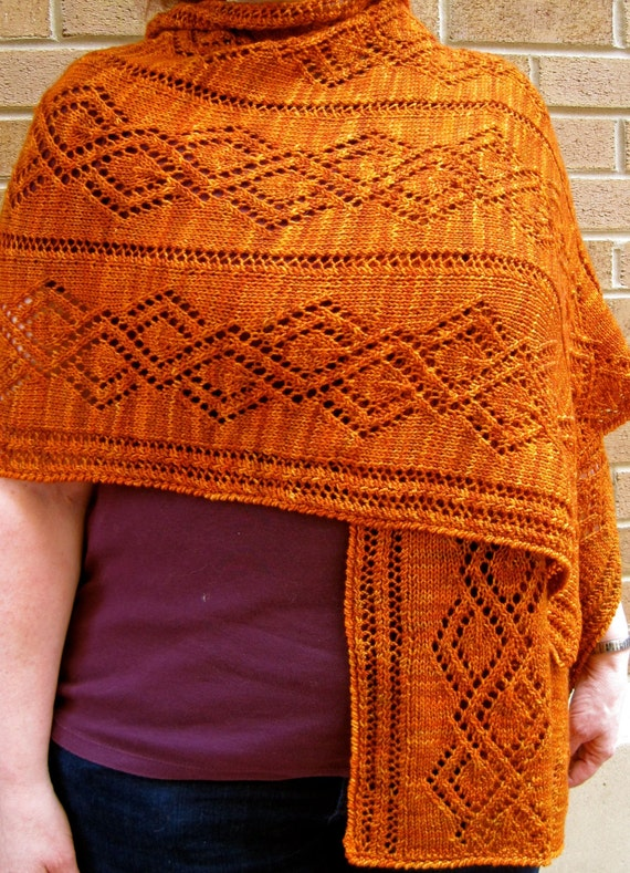 Knit Wrap Pattern: Vandyke Lace Shawl Knitting Pattern ...