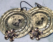 Craft Beer Cap Pitbull Earrings