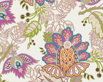 Exotic Flora Rich (BA-400) - BAZAAR STYLE -  Patricia Bravo for Art Gallery Fabrics - By the Yard