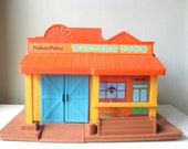 1980s Vintage Fisher Price Little People Western Town