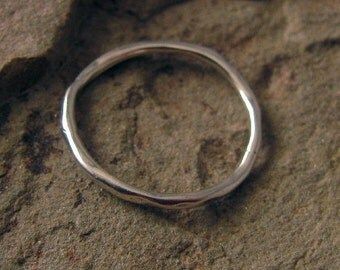 Sterling Silver Juneberry Link  - 1 Rustic Organic Connector with Earthy Bark Texture,  20mm, L8a