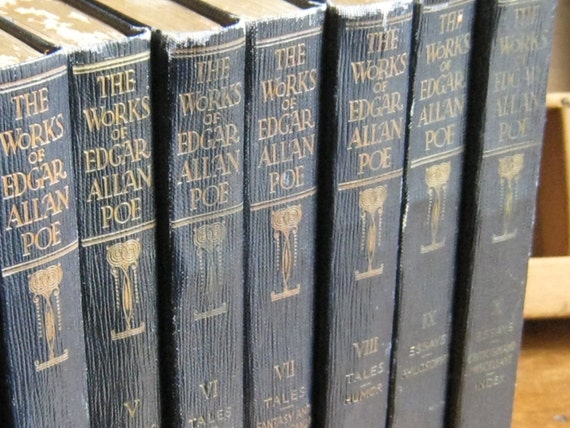 Edgar Allan Poe Books Set Antique Funk Amp Wagnalls 1904