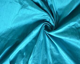 Silk Dupioni in  King fisher / Deep sky blue,fat quarter - D 215