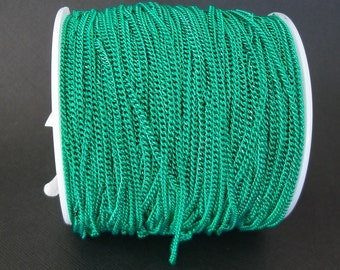 Light Sea Green Electroplated  Twist  Curbe Chain Colored Chain-15 ft.
