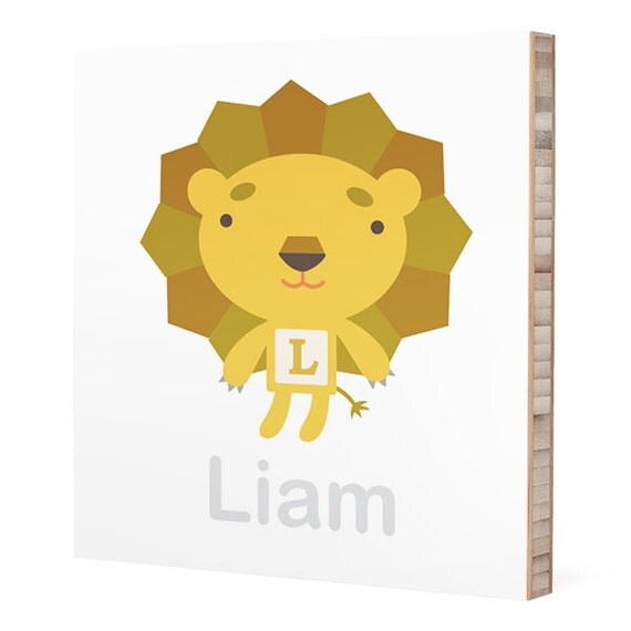 Personalized Boy Names : Custom ABC Block Bamboo Wall Art //