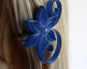 Conrflower Blue Wedding Hair Clip, Hair Clips for Wedding, Cornflower Wedding Hair Accessory
