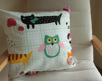 "SALE Woodland Friends Cushion/Pillow Cover 18"" (46 cm)"
