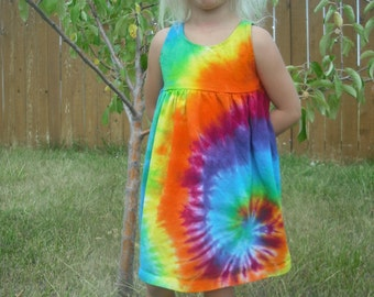 Tie Dye Girls Empire Waist Dress sizes Baby through 12 Girls