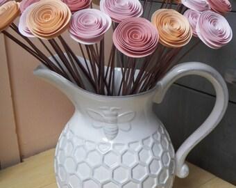 Custom Spiral Paper Flower Centerpiece, Gift Bouquet, Home Decor