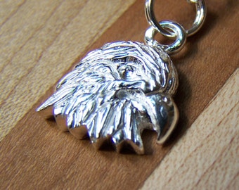SALE - Silver Eagle, Sterling Silver Eagle Necklace, Charm Pendant, native American, Power, Men Mans Jewelry, Fathers Day