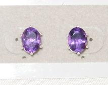 Sterling silver Amethyst earrings,Wedding earrings,Valentine fashion earring,Purple Amethyst Sterling earrings,February Birthstone Earrings,