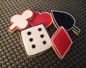 1 DZ Playing Cards Vanilla Sugar Cookies