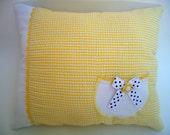 Sunshine Seersucker Pocket Pillow