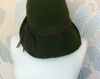 1960s Christian Dior Green Hat