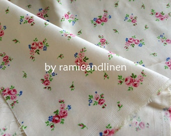 """cotton fabric, floral print, half yard by 60"""" wide"""