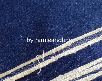 "silk denim fabric, yarn dyed silk noil and cotton blend fabric, Fat Quarter, 18"" by 21"""