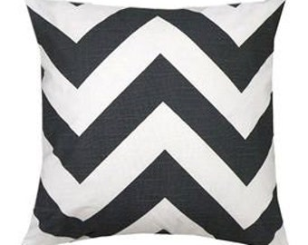 Pillow Covers Cushions 20x20 or select your size large zig zag black and white