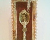 Queen Elizabeth Wood Shadow Box Assemblage Art - RobinsArtAndDesign