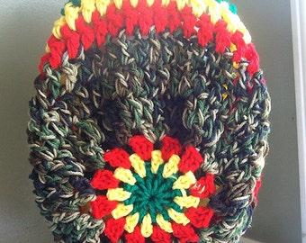 Mandela slouchy hat PDF Crochet slouchy hat pattern chunky crochet pattern201