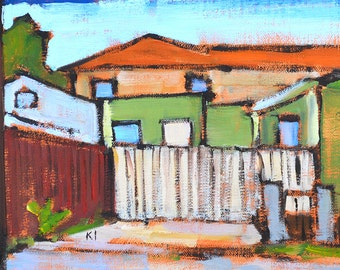 House Next Door-  San Diego Landscape Painting