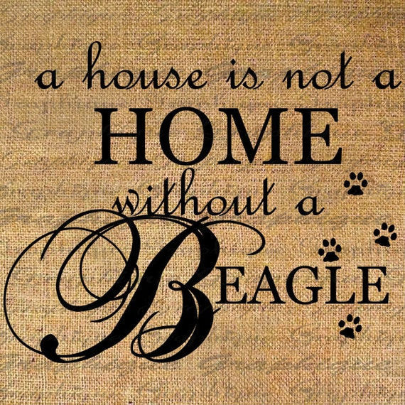 Items Similar To HOME Wo BEAGLE Text Word Calligraphy