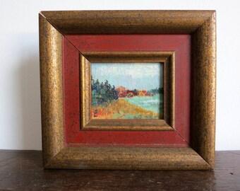 Vintage Mini Landscape Oil Painting