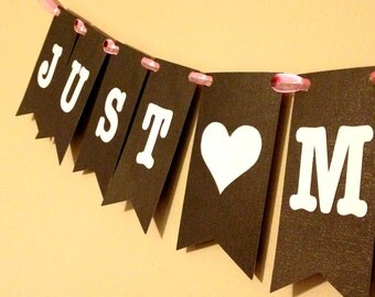 Just Married Pennant Banner