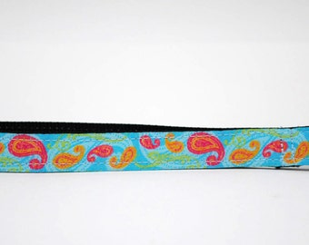 READY TO SHIP** Point n Shoot Camera Wrist Strap- Cool Water Paisley