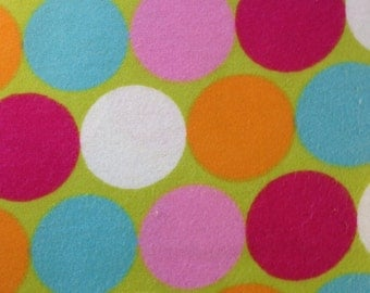 Colorful Dots  - FLANNEL Fabric BTY