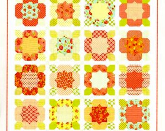 Thimble Blossoms Flower Girl Quilt Pattern  Fat Quarter Friendly Quilt Pattern  TBL 151