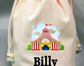 8x12 Drawstring Bags- Wedding Favor-Party Favor - Pick SIze - Muslin Bag - Circus- Customize